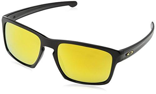 Oakley Herren Sonnenbrille  Sliver,Schwarz (Polished Black), 57