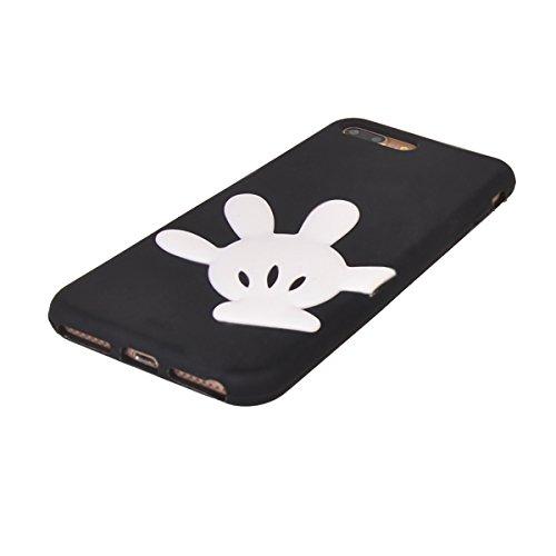 """iPhone 7 Plus (5.5"""") Hülle,COOLKE 3D Fashion Klassische Karikatur weiche Silikon Shell Schutzhülle Hülle case cover für Apple iPhone 7 Plus (5.5"""") - 008 002"""