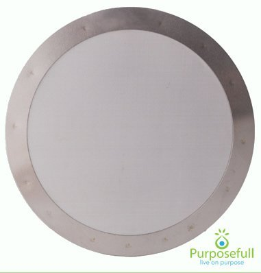 Purposefull Filter - Aeropress Stainless Steel Metal Coffee Filter - Finest Mesh - Allows Natural Oils - Removes Paper Taste Test