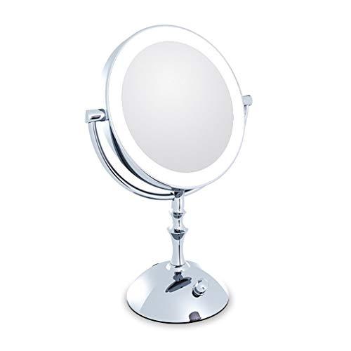 GWFVA Spiegel Gesundheit UK LED Make-up geistige doppelseitige Dressing Desktop tragbar mit Licht Schönheit Eitelkeit auf Fuß Stehen Willkommen (4-fuß-badezimmer-eitelkeit)