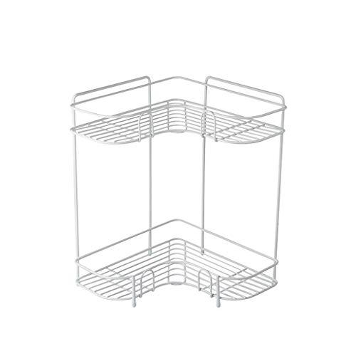 Zh ripiano angolare/ripiano per piatti/stoviglie per piatti/portafiore a 2 piani scaffale da cucina triangolare da cucina, multiuso (colore : bianca)