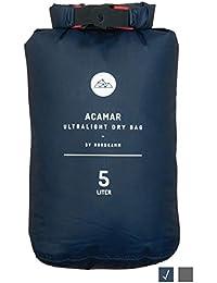 NORDKAMM Dry-Bag, Trockensack, 5l, 10l, 15l od. Set, Ultra-Light, blau oder grau