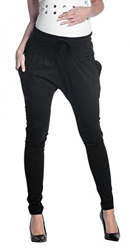 Zeta ville - pantalone prémaman pannello elastico cavallo basso - donna - 583c (nero, it 42, m)