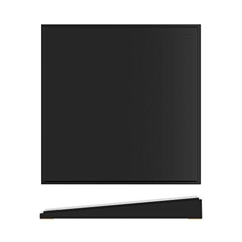 Creative – Noir Mélamine empilables coudé Riser, taille : 265 x 265 x 35 mm (lot de 6)