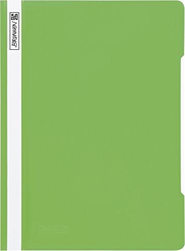 Brunnen 102011053 Schnellhefter (A4, aus PVC, glasklares Deckblatt) hellgrün
