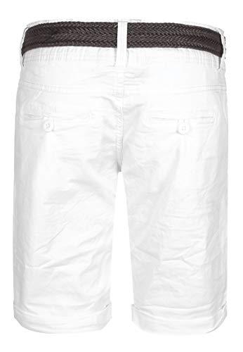 Fresh Made Bermuda Estivi da Donna Pantaloni Chino Corti con Cintura Intrecciata Pantaloncini Basic in Cotone