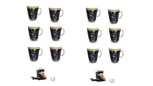 Kaffeepaddose 4 St/ück und 4 Espresso Glastassen von James Premium/®