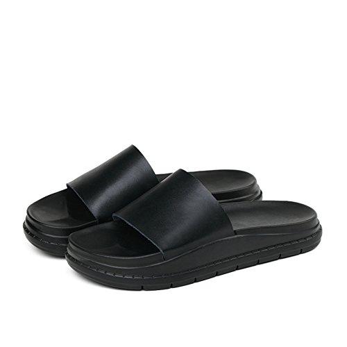 Indossare sandali piatti in pelle/Pantofole antisdrucciolo A