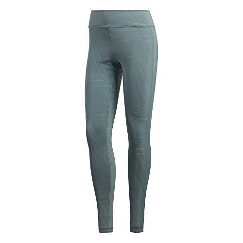 adidas Damen Believe This Regular-Rise AOP Tight, Raw Green, XL (Adidas Aop Jacke)