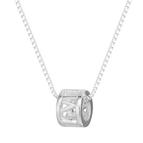 XIAOSO 925 Sterling Silber Runde Trommel Halsketten & Anhänger Für Frauen Hochzeitsgeschenke