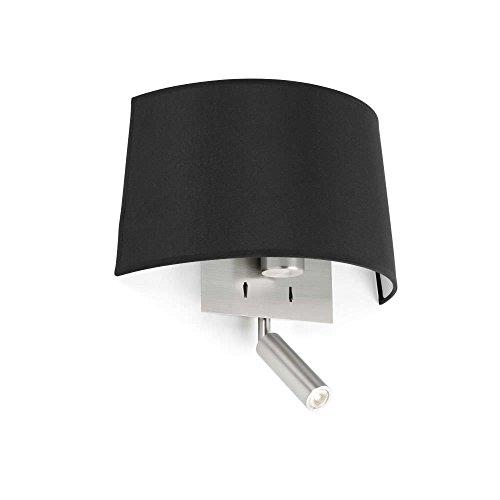 Faro 20024 VOLTA Lampe applique noire avec lecteur LED