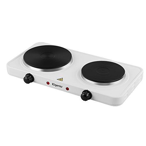 Elgento E15006 Hot Plate Double Boiling Ring, 1500 W - White