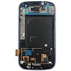 Blue Ecran LCD Vitre Tactile Assemblé Complet sur Châssis pour Samsung Galaxy S3 i9300