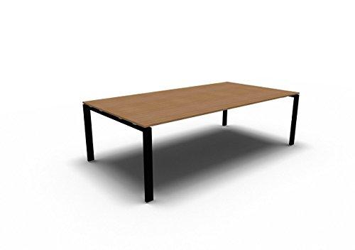 Besprechungstisch GLIDER für 8 Personen, Konferenztisch, Meetingtisch in verschiedenen Dekoren, Konferenzmöbel
