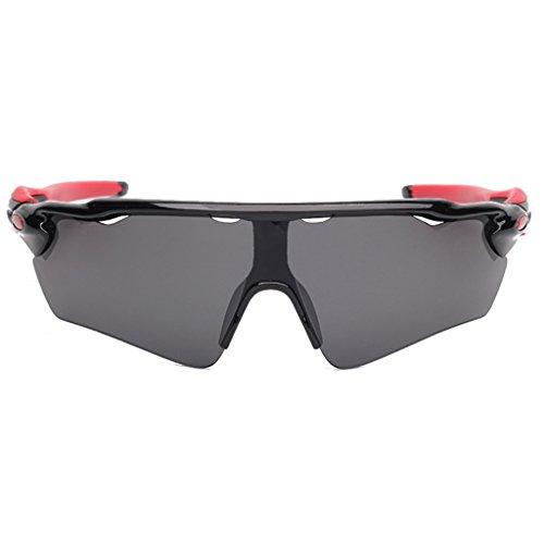Highdas UV400 v¨¦lo Lunettes v¨¦lo v¨¦lo v¨¦lo lunettes de lunettes Lumi¨¨re Noir/Gris
