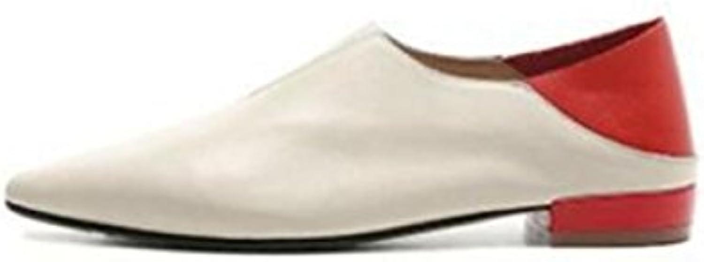 MUYII Chaussures Plates En Cuir Pour Pointues Dames Pointues Pour Couleur Correspondant Chaussures De MaternitéB07D1P8V6WParent 102364