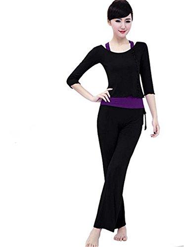 Femme formation vêtements de yoga costume / danse / sport / 3 PCS Black
