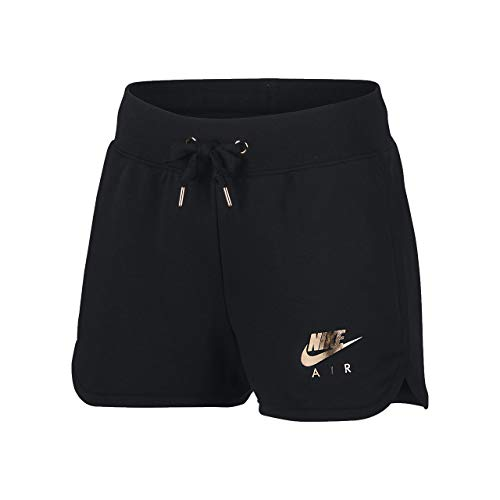 Nike Damen Air Fleece-Shorts, Black, M