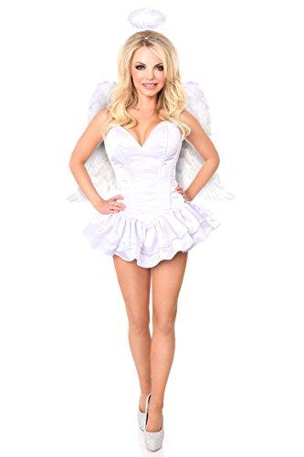 Kostüm Erotische Plus Größe - Daisy Corsets Damen TD-910-1 Kostüm - weiß - XL