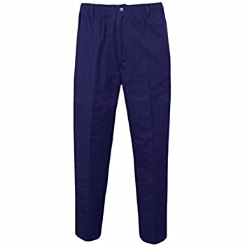 Mens Smart Rugby Trousers Fully Elasticated Stretch Waist Band With Draw Cord Comfortable Fit Workwear Bottoms Straight Leg Casual Formal Work Pants Size 30-48 1