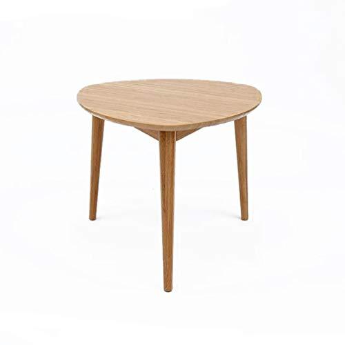 T-Day Beistelltische Nachttisch Tische Couchtisch Runder Couchtisch Beistelltisch mit natürlichen Eichenholz-Beinen Wohnzimmer-Sofa-Seite (Size : 62 * 62CM) - Natürliche Schwarze Beistelltisch
