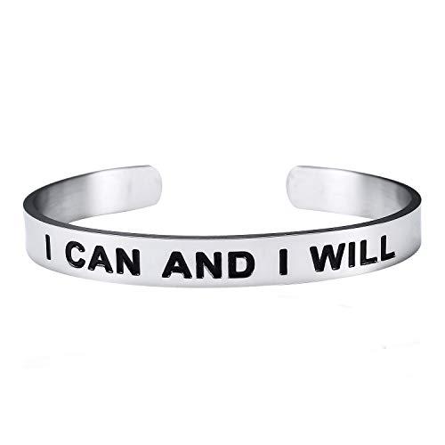 Imagen de bespmosp  pulseras con inscripción i can and i will bracelets inspirational christians best friend birthday