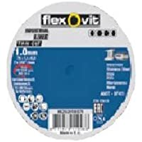 Flexovit 66252833014 Discos de Pequeño Diámetro, Thin Cut, A 60 T-BF41 Especificación, 76 mm D x 1 mm T x 10 mm B, Set de 100