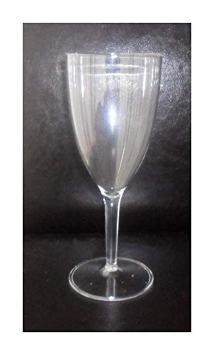 NEW - 4 x Reusable Clear Plastic Wine Glasses - Perfect for in or Outdoor use, BBQ Party.