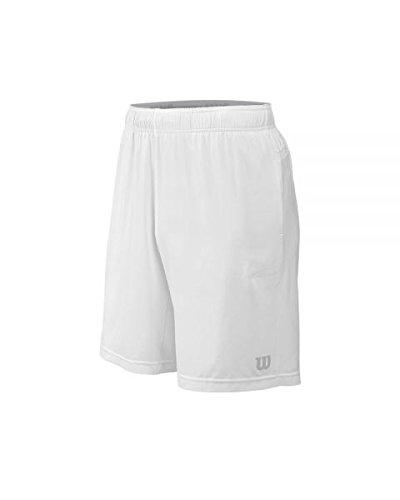 WILSON M Star Woven 9Pantaloni Corti da Tennis, Uomo, Uomo, M Star Woven 9, Blanco (Bianco), S