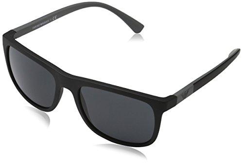 Emporio Armani Herren Sonnenbrille 0EA4079, Schwarz (Matte Black 504287), Large (Herstellergröße: 57)