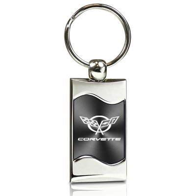 chevrolet-corvette-c5-gray-spun-brushed-metal-key-chain