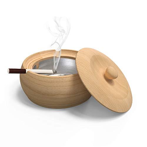 Cenicero madera forro extraíble jardín, patio oficina