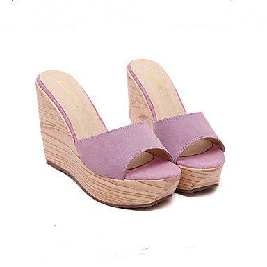 zhENfu donna mocassini & amp; Slip-Ons sandali suole di luce di maiale Inverno Primavera Casual nero giallo verde arrossendo rosa 3A-3 3/4in Blushing Pink