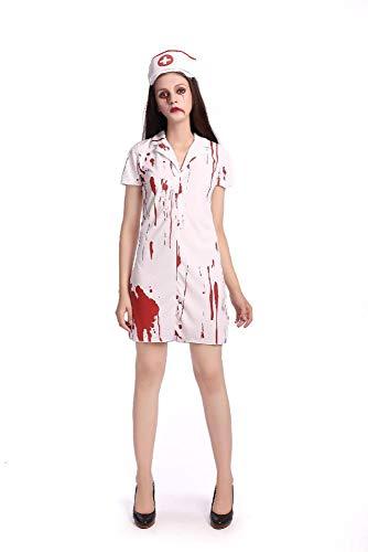 Olydmsky karnevalskostüme Damen Halloween Krankenschwester Kostüm Erwachsene weibliche Krankenschwester Arzt Kleid