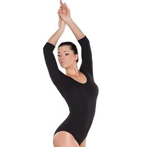 Shepa Damen 3/4 Ärmel Gymnastikanzug Ballettanzug