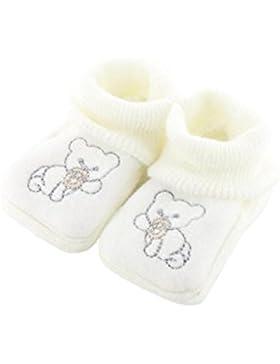 zapatitos de bebé 0-3 Meses blanco - patrón Pooh Chupete