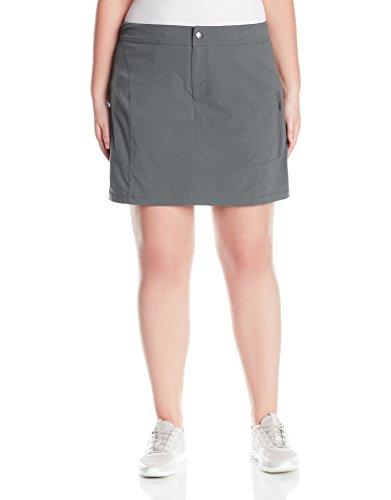 Columbia Women's Plus Size Just Right Skort, Grill, 16W Womens Plus Columbia Sportswear