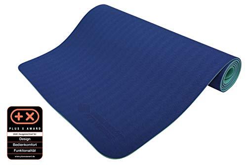 Schildkröt Fitness Yogamatte 4 mm Bicolor, Petrol-Anthrazit, in Tragetasche