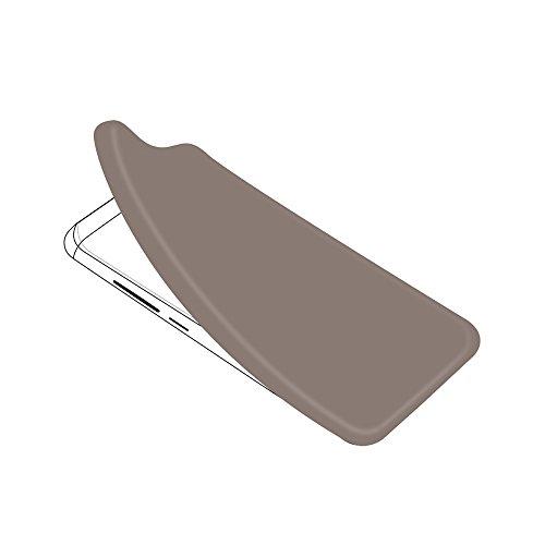 Lusee Silikon TPU Hülle für Oukitel C4 5.0 Zoll Schutzhülle Case Cover Protektiv Silicone halb transparent grau