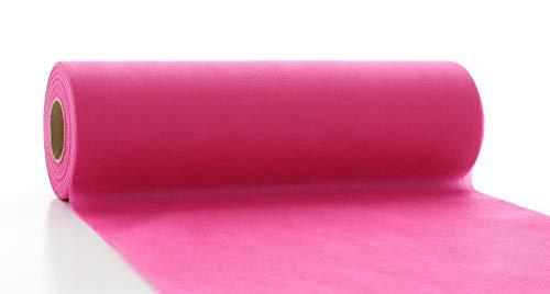 Vlies-Tischläufer Tischband Pink Rosa 30cmx20m | abwaschbar | Tischdeckenrolle stoffähnlich | Feier | Geburtstag | Party | Hochzeit |...