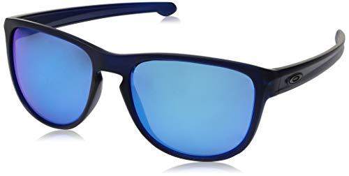 Oakley Herren Sonnenbrille SLIVER R Blau (Translucent Bluee/Sapphireiridium), 57