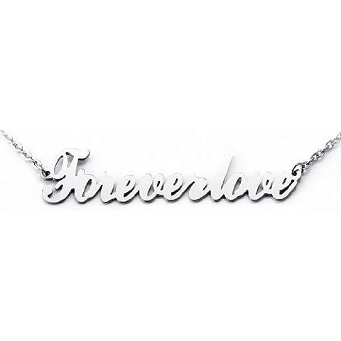 JewelryWe Gioielli collana con pendente da uomo donna moda argento acciaio inox