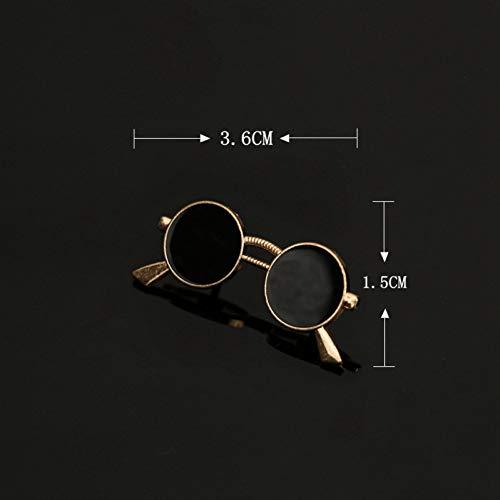 JTXZD Brosche Mode Emaille Öl Gläser Sonnenbrillen Stifte und Broschen Herrenanzug Oberhemd Kragen Herrenbekleidung \u0026 Zubehör