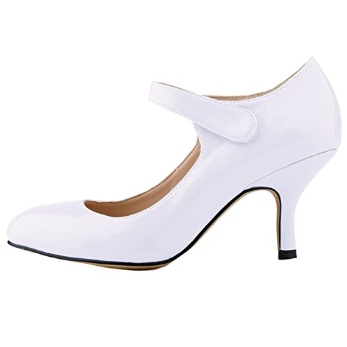 Lemontree Ladies Party Pumps Z68 Bianco