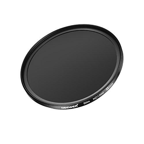 Galleria fotografica Neewer Slim 52mm densità neutra ND 1000filtro lente 10stop vetro ottico e opaco nero fiamma per obiettivi con filettatura da 52mm Dimensioni