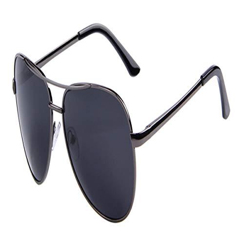 FGRYGF-eyewear Sport-Sonnenbrillen, Vintage Sonnenbrillen, Men Polaroid Sunglasses Night Vision Driving Sunglasses 100% Polarized Sunglasses C05 Gray Black