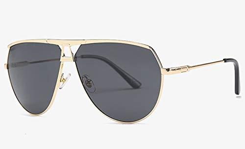 CQYYDD Damen Retro Sonnenbrille Uv400 Herren Gold Metall Grün Braun Herren Sonnenbrille Sommer Accessoires Geschenkartikel wie abgebildet in Fotogold mit Schwarz