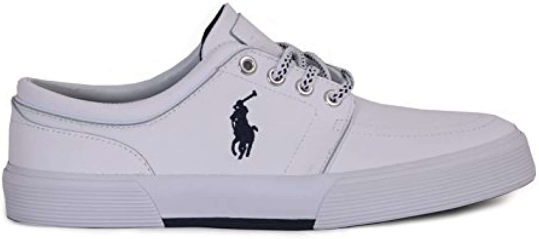 Ralph Lauren Polo Faxon Herren Leather Fashion Sneaker Weiß