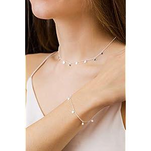 Silberkette mit kleinen Plättchen 925 Geschenk