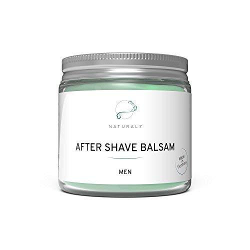 NATURAL7® After Shave Balsam Men | 200ml Herren-Balsam | Die beste Methode gegen Pickel und Rötungen nach der Rasur | Nährt die Haut und spendet wohltuende Frische | Für ein männliches Hautbild -